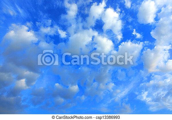 Clouds on blue sky3 - csp13386993