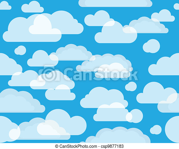 Clouds on green-blue sky - csp9877183