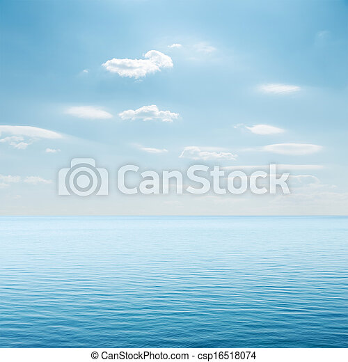 clouds over blue sea - csp16518074