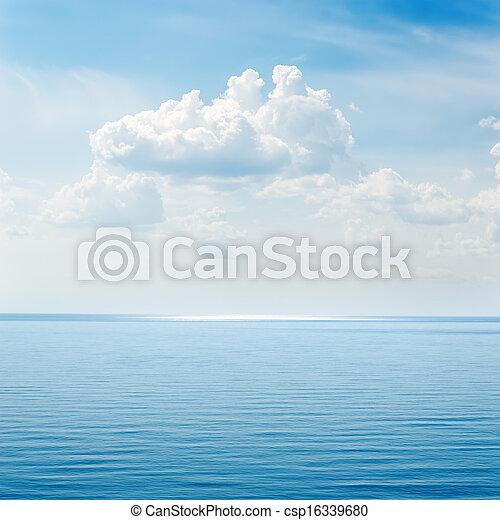 clouds over blue sea - csp16339680
