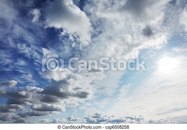 Clouds over blue sky - csp6508258