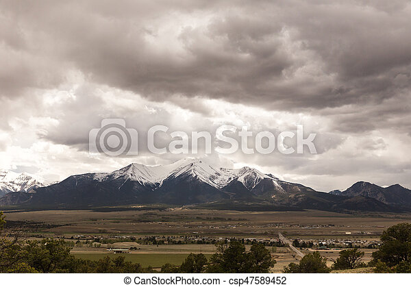 Clouds Over Colorado Mountains - csp47589452