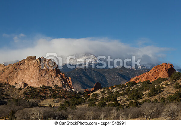 Clouds Over Pikes Peak and Garden of the Gods