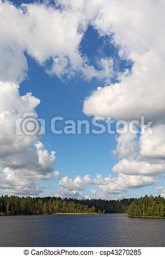 clouds over the lake - csp43270285