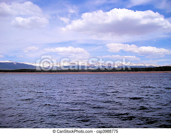 Clouds over the Lake - csp3988775