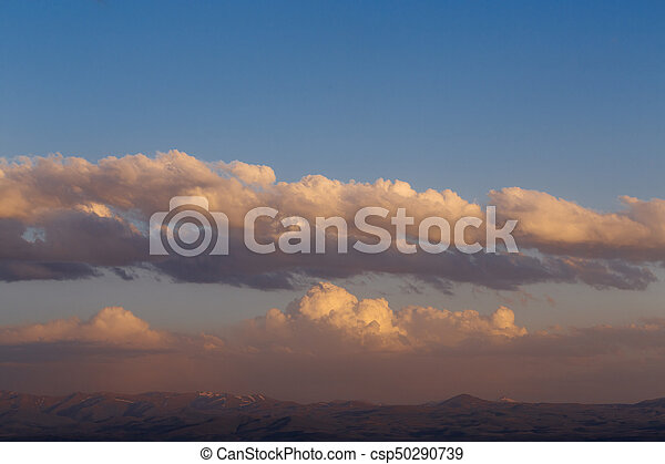 Clouds over the mountains of Armenia - csp50290739