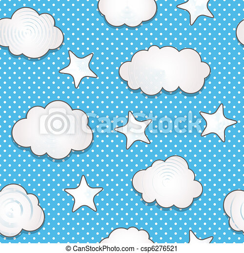 Clouds seamless pattern - csp6276521