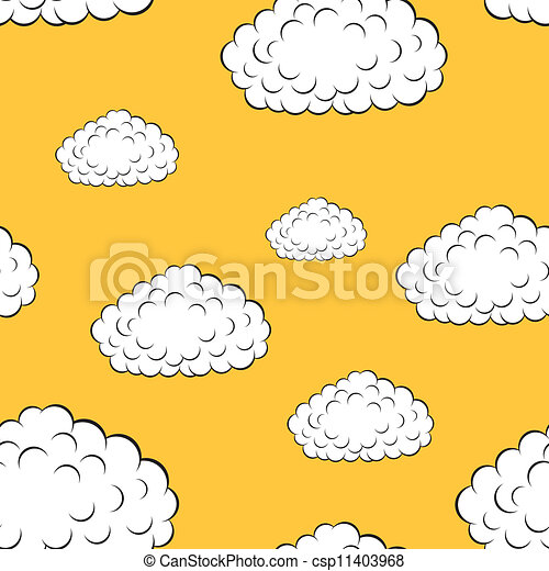 clouds seamless wallpaper, vector illustration - csp11403968