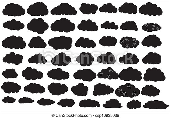 Clouds Silhouettes - csp10935089
