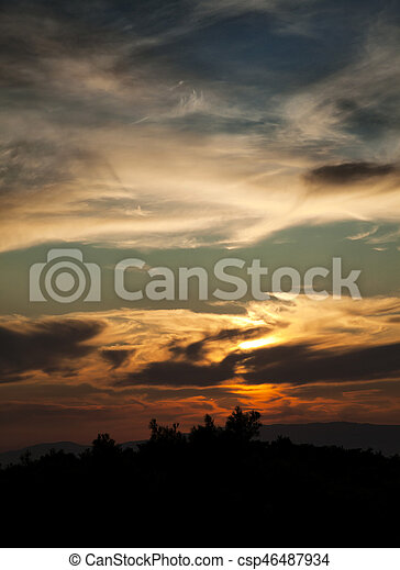 Clouds - csp46487934