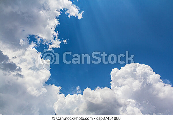 Clouds with blue sky - csp37451888