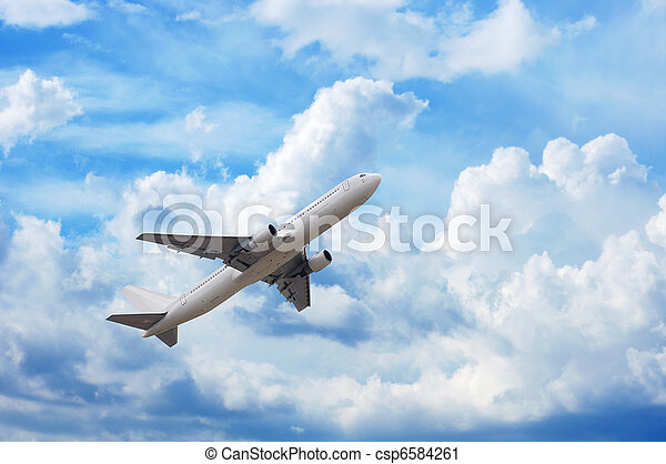 cloudsape and airplane - csp6584261