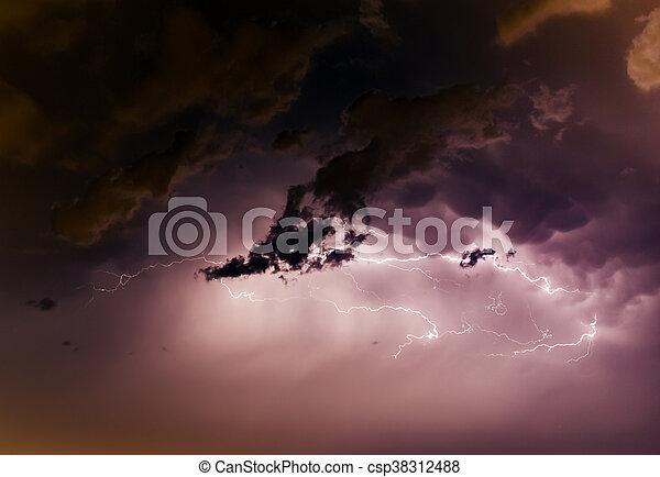 cloudscape , βίδα , κεραυνός  - csp38312488
