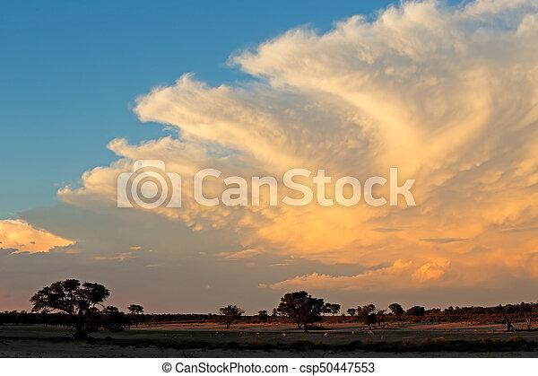 Nubes del desierto Kalahari - csp50447553