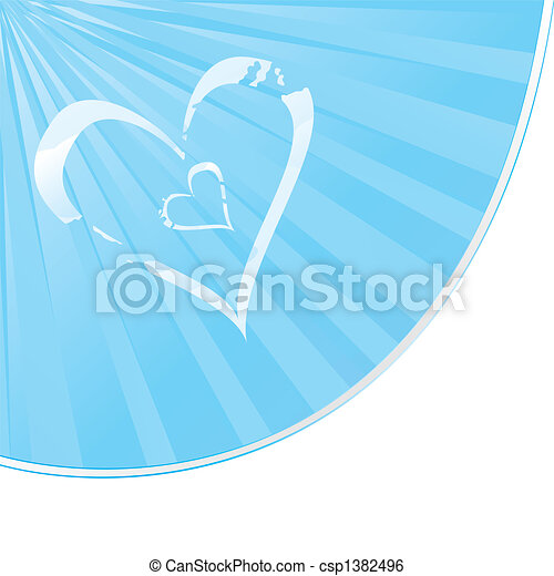 Cloudy Heart shape - csp1382496