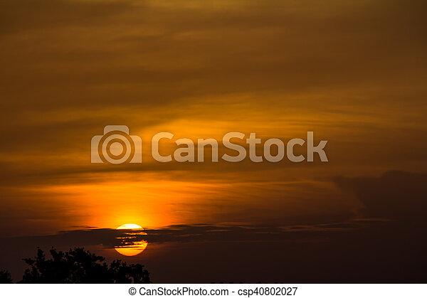 Cloudy morning sunrise - csp40802027