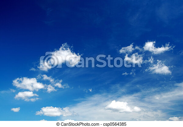 Cloudy sky background - csp0564385