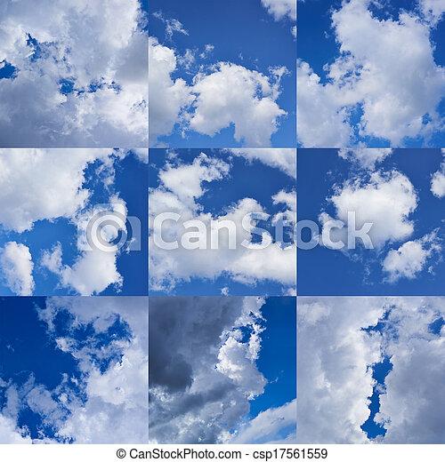 Cloudy sky collection - csp17561559