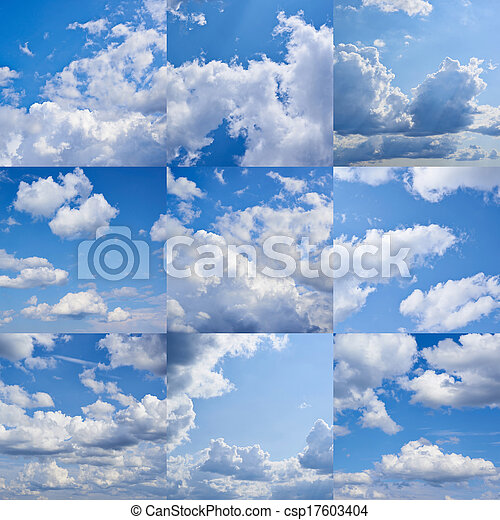 Cloudy sky collection - csp17603404