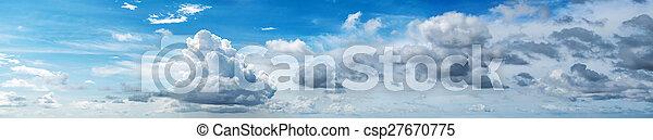 Cloudy sky panorama - csp27670775