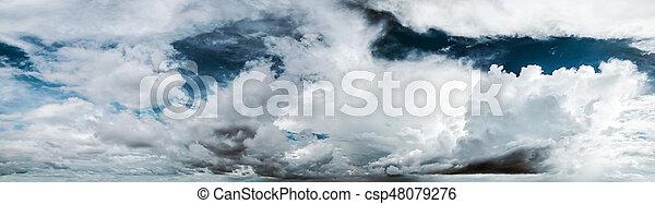 Cloudy sky panorama - csp48079276