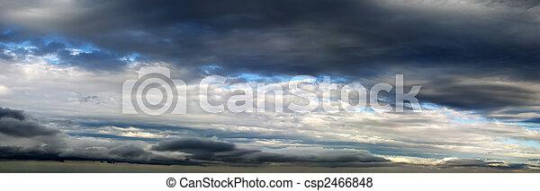 Cloudy Sky Panorama - csp2466848