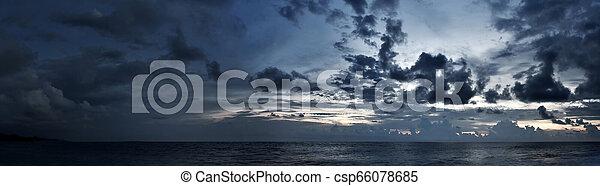 Cloudy sky panorama - csp66078685
