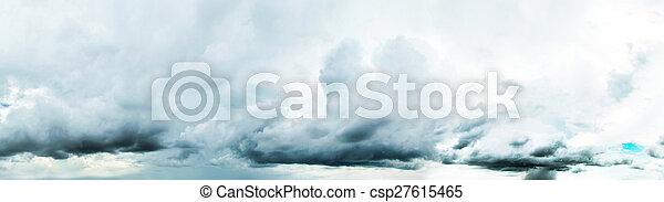 Cloudy sky panorama - csp27615465