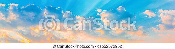 Cloudy sky panorama - csp52572952