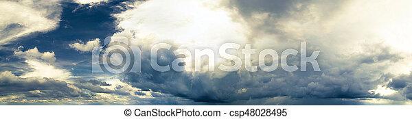 Cloudy sky panorama - csp48028495