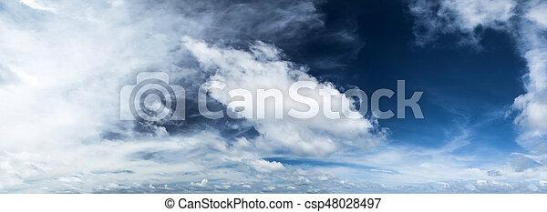 Cloudy sky panorama - csp48028497