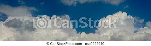 cloudy sky panorama - csp0222940