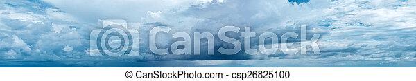 Cloudy sky panorama - csp26825100