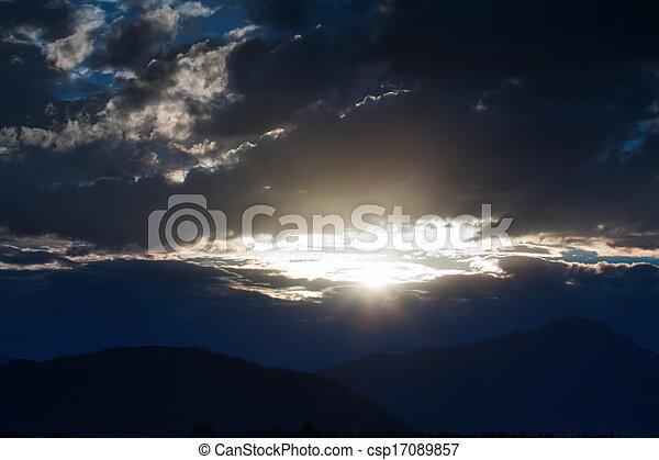 cloudy sunset - csp17089857