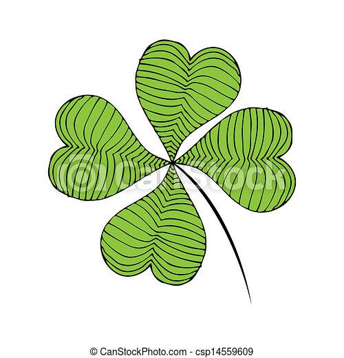 Clover green illustration - csp14559609