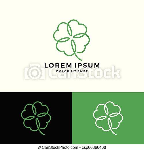 clover leaf four logo vector download - csp66866468