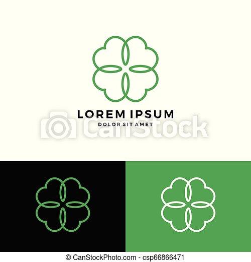 clover leaf four logo vector download - csp66866471