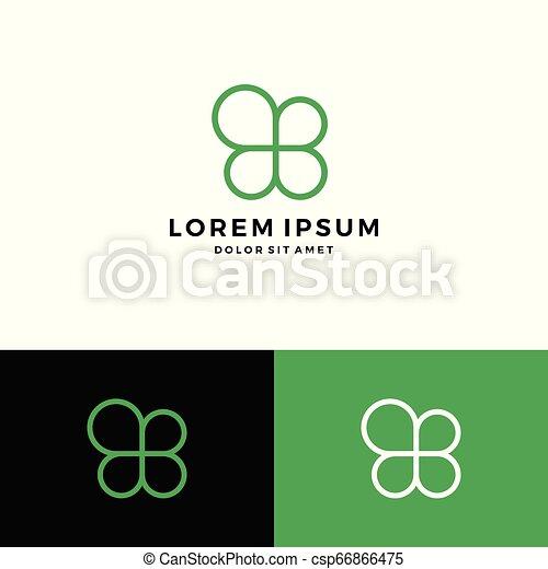 clover leaf four logo vector download - csp66866475