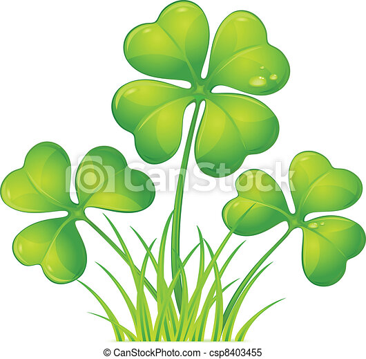 clover with grass four leaf clover with green grass vector rh canstockphoto com green grass field clipart green grass clipart png