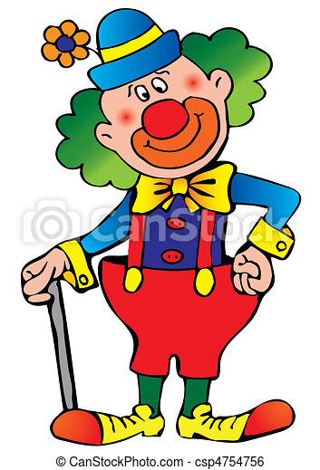 funny clown vector art illustration on a white background clip art rh canstockphoto com free crown clip art images free crown clip art download