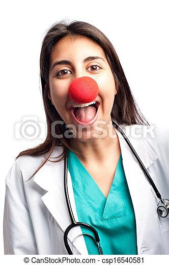 clown doctor having fun - csp16540581