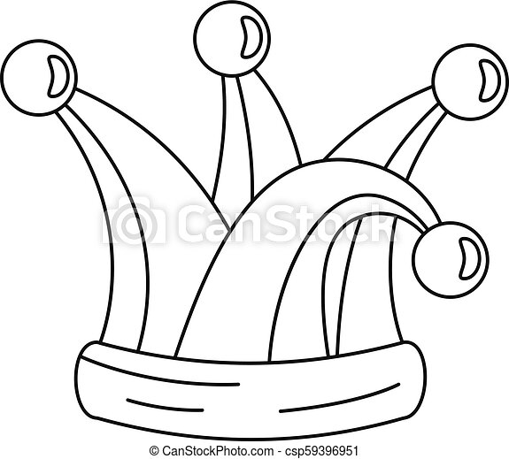 Clown Hat Bells Icon Outline Style Clown Hat Bells Icon Outline