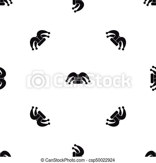 Clown hat pattern seamless black. Clown hat pattern repeat seamless ... 200b7d789c6