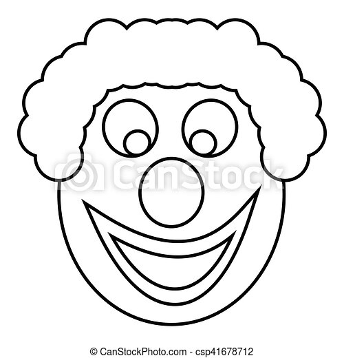 Clown Head Icon Outline Style Clown Head Icon Outline