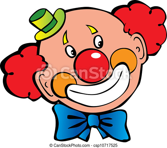 happy clown vector art illustration on a white background vector rh canstockphoto com free crown clip art download free clown clip art to print