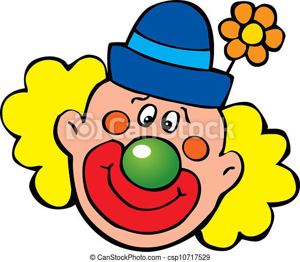 happy clown vector art illustration on a white background vector rh canstockphoto com crown clipart clown clip art images