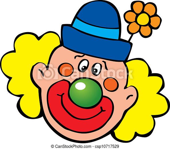 Clown Art Illustration Fondo Vettore Bianco Felice