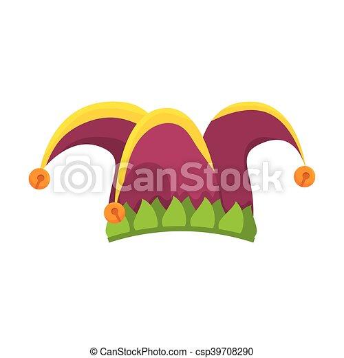 clown jester hat - csp39708290