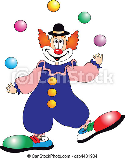clown, vecteur - csp4401904