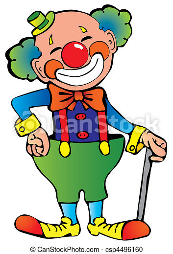 funny clown vector art illustration on a white background vector rh canstockphoto com crown vector crown vector image